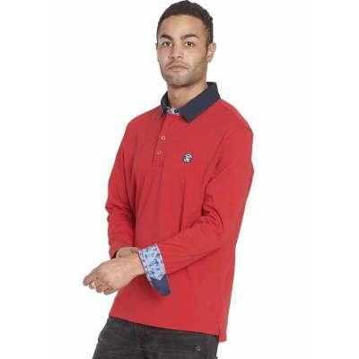 Polo manches longues La Squadra rouge hermès