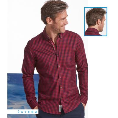 Chemise Dario beltran Carreaux bleue et rouge