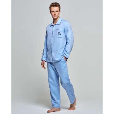 Pyjama Impétus coton épais bleu clair IMPETUS - 2