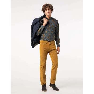 Pantalon mille raies velours CARDIN moutarde
