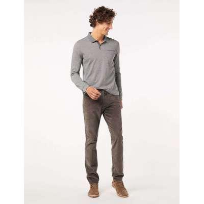 Pantalon velours CARDIN gris coupe 5 poches