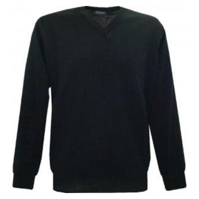 Pull V Monte Carlo noir avec laine