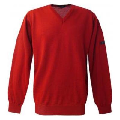 Pull V Monte Carlo rouge avec laine