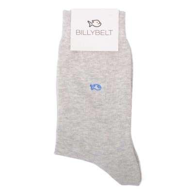 chaussettes BILLYTBELT gris chiné clair