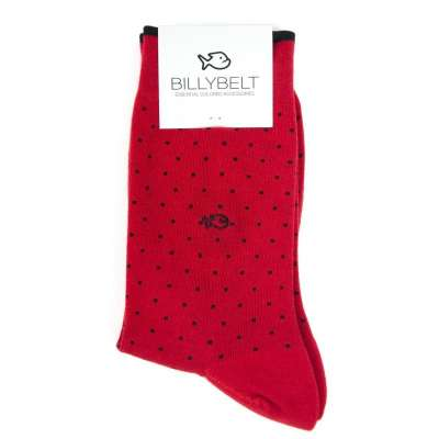Chaussettes square rouge