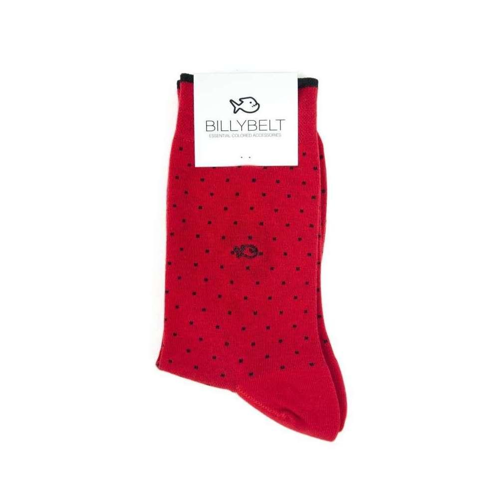 Chaussettes square rouge