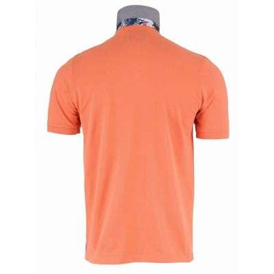 Polo orange motif tropical LA SQUADRA - 2