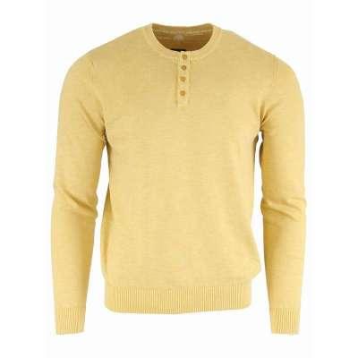 Pull fin en coton couleur ambre