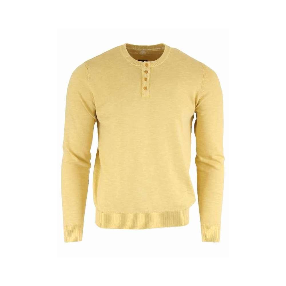 Pull fin en coton couleur ambre LA SQUADRA - 1