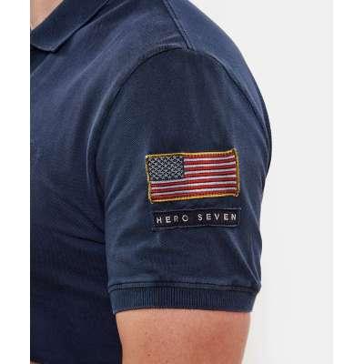 Polo Hero Seven bleu marine HERO SEVEN - 2