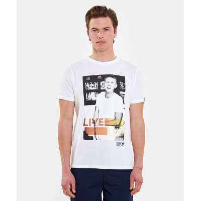 T-shirt Hero Seven blanc bartender