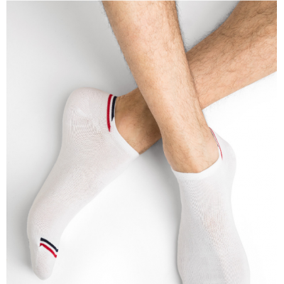 Socquettes Bleuforêt blanches