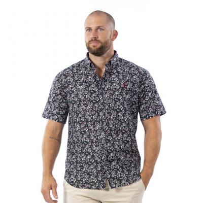 chemisette à fleurs Ruckfield bleu marine RUCKFIELD - 3