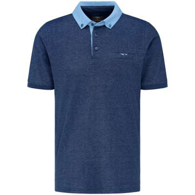 Polo Fynch hatton bleu en Jersey FYNCH HATTON - 1