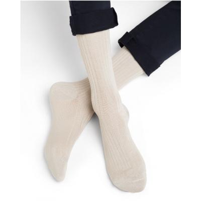 Lot chaussettes non comprimantes en fil d'Ecosse crème. BLEUFORÊT - 1