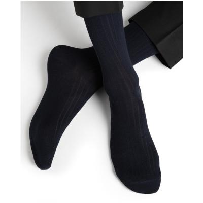 Lot chaussettes non comprimante marine BLEUFORÊT - 1