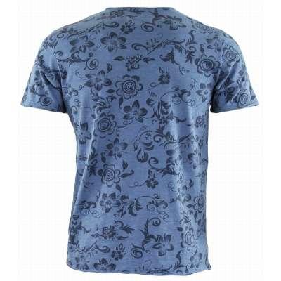 Tee-shirt LA SQUADRA coton / lin bleu  - 1