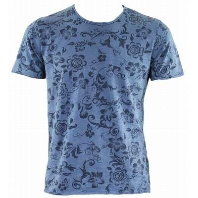 Tee-shirt LA SQUADRA coton / lin bleu  - 2