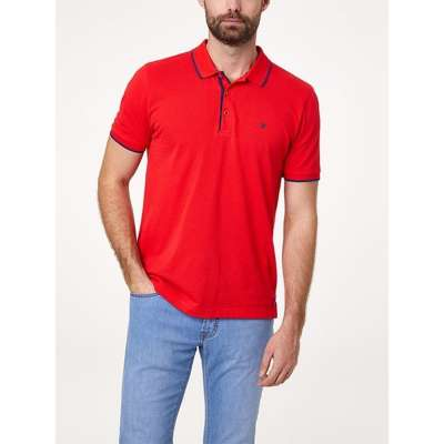 Polo Pierre CARDIN rouge opposition marine