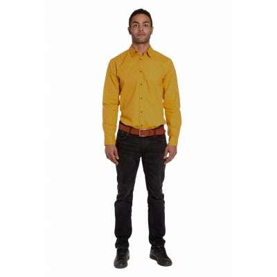 Chemise coupe droite Avelino gold LA SQUADRA - 1