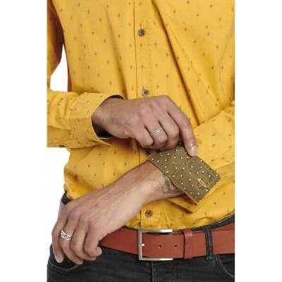Chemise coupe droite Avelino gold LA SQUADRA - 3