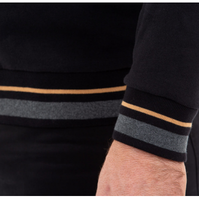Sweat shirt ouvrant RUCKFIELD noir et doré RUCKFIELD - 1