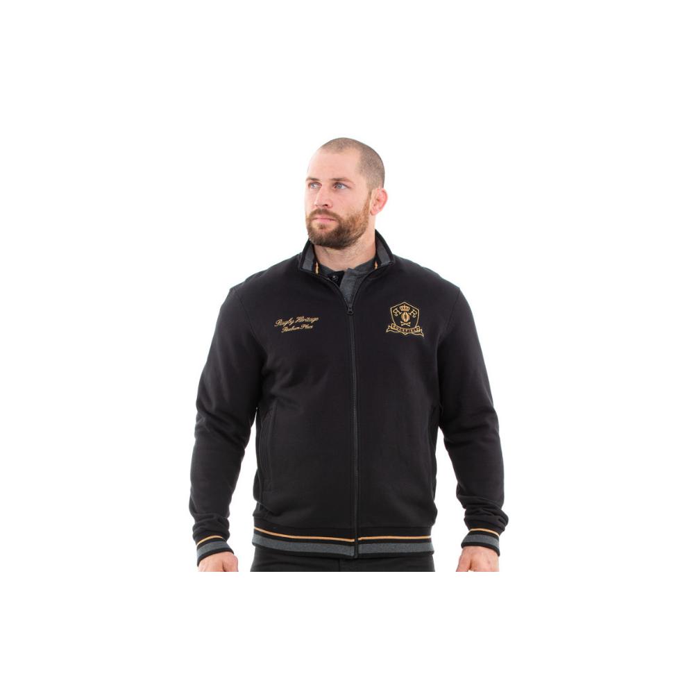 Sweat shirt ouvrant RUCKFIELD noir et doré RUCKFIELD - 4