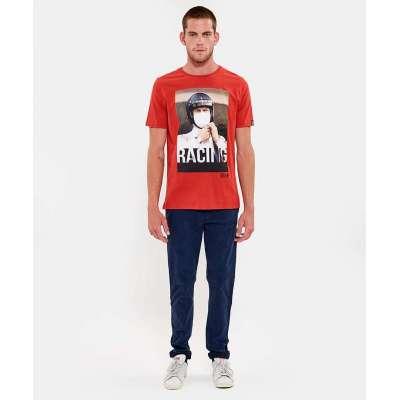 Tee shirt Hero Seven Steve McQueen rouge HERO SEVEN - 1