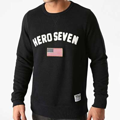 Sweat shirt HERO SEVEN flag noir HERO SEVEN - 1