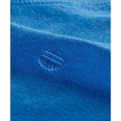 Pull col V en coton bleu REDMOND - 3
